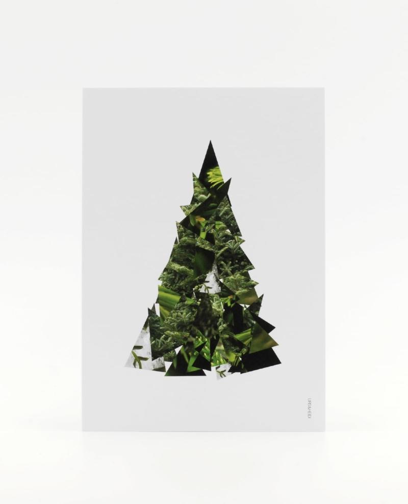 Baum im Baum Postkarte - Weihnachten als Collage