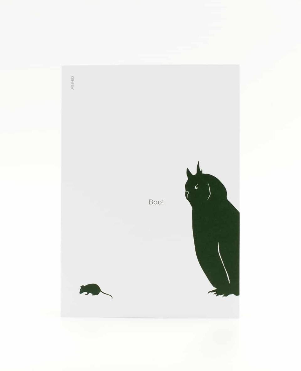 Boo! Postkarte für Schreckhafte