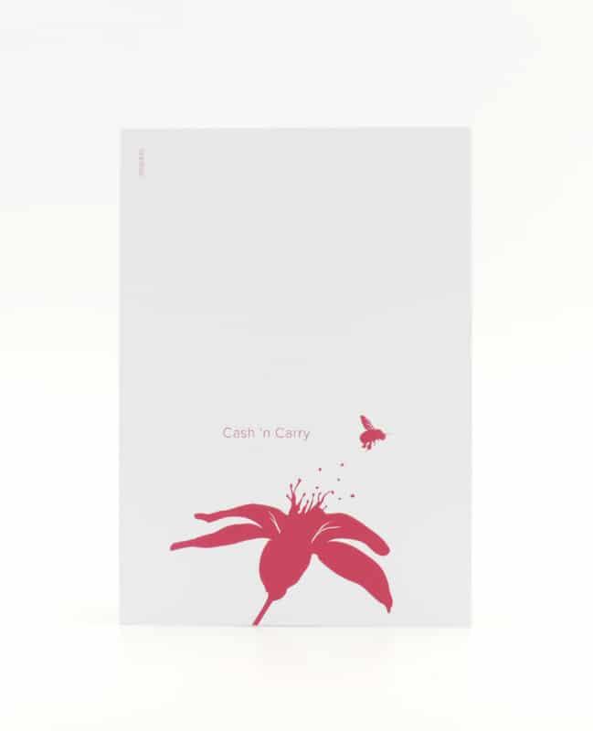 Cash'n'Carry Postkarte für Fleissige