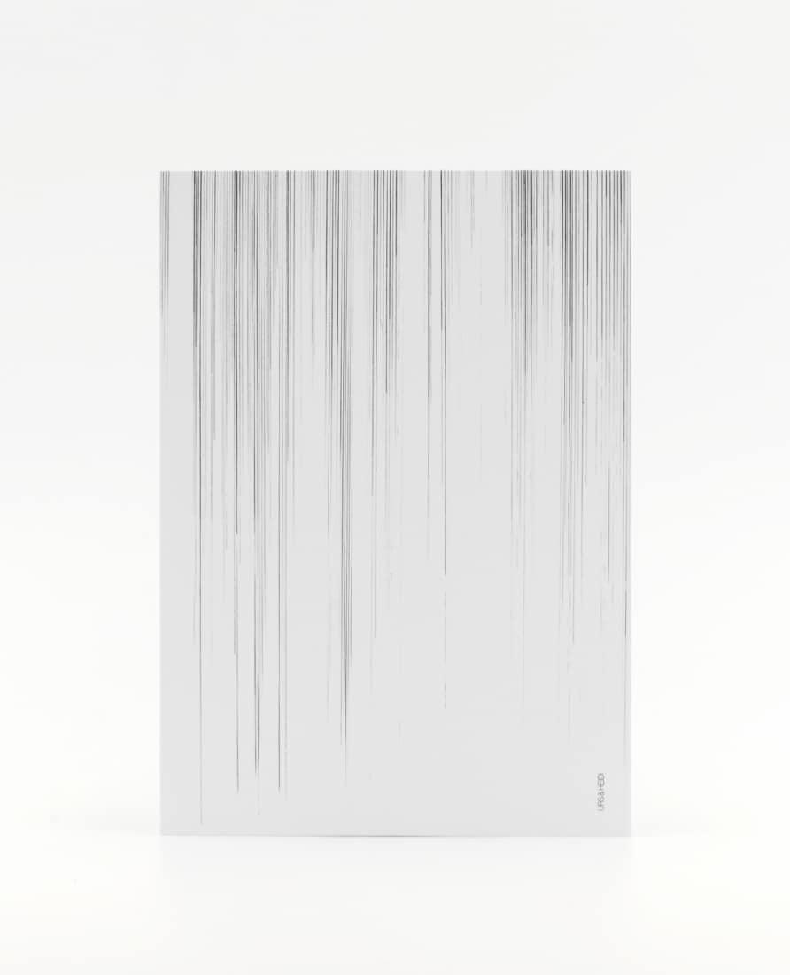 Postkarte mit Bleistift gezeichnet mit Streifen verblassend
