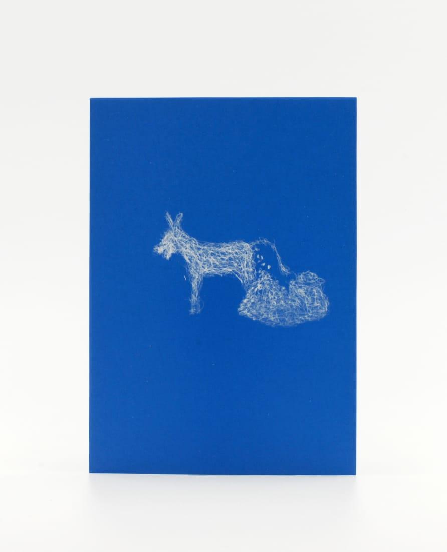 Goldesel Postkarte; märchenhaft viel Glück beim Ankreuzen