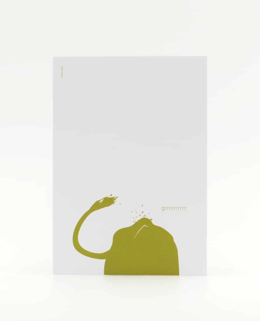 Grrrr Postkarte als Blitzableiter