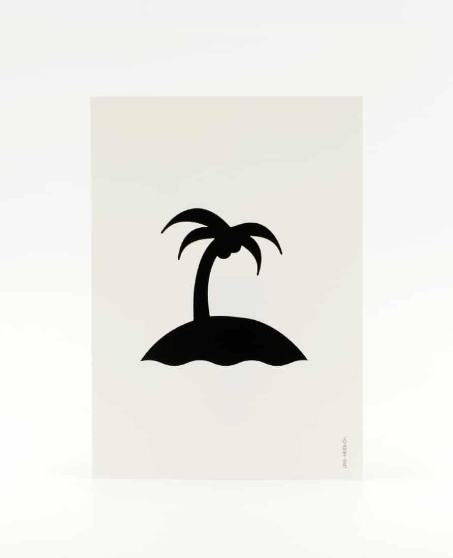 Postkarte Insel