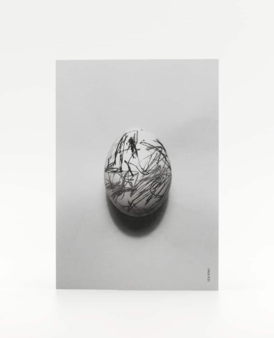 Postkarte Kritzelei Ei