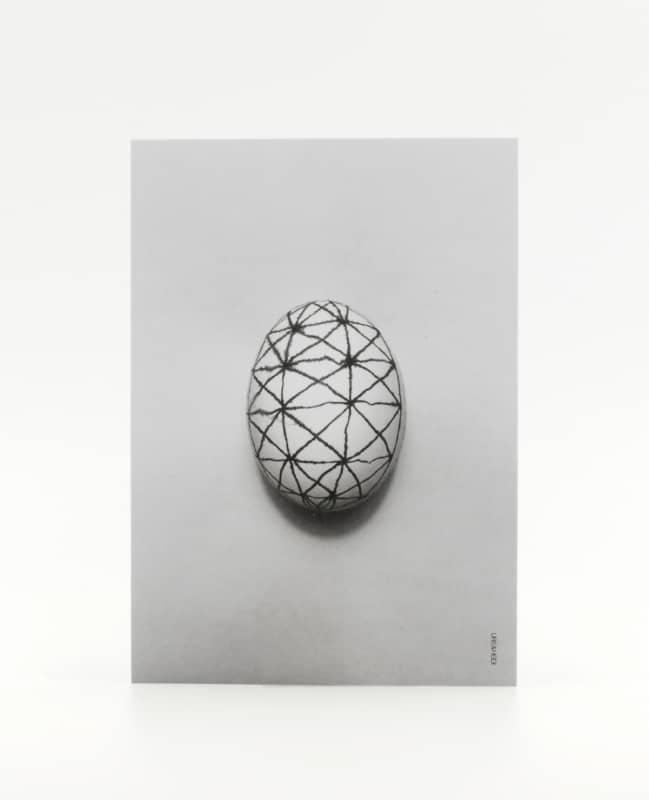 Postkarte Linien Ei