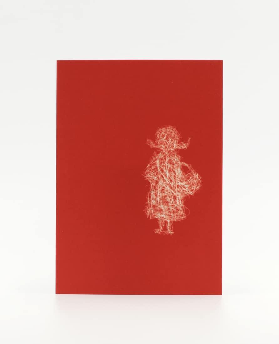 Rotkäppchen Postkarte als Einladung zum Picknick