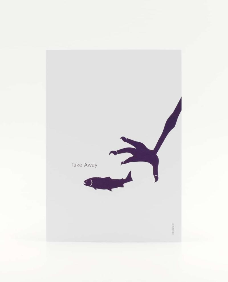 Take Away Postkarte für Abenteurer