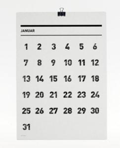 365 Kalender 2017 - Januar
