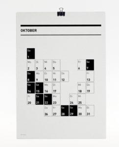 365 Kalender 2017 - Oktober