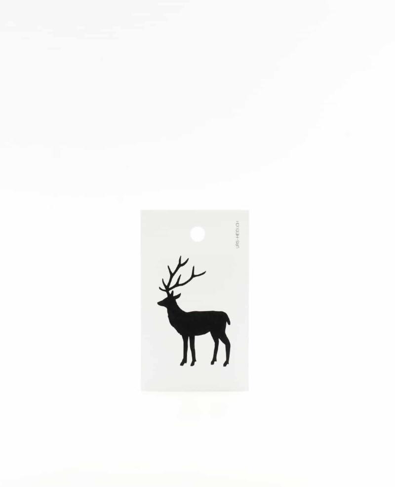 Hirsch Anhänger für Geschenke, Illustration Silhouette in schwarz