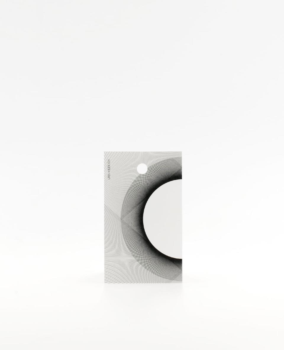 Anhänger für Geschenke mit Halbkreis, radiale Illustration in schwarz