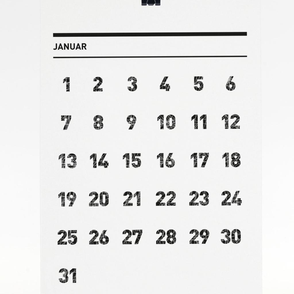 365 Kalender 2018 - Januar