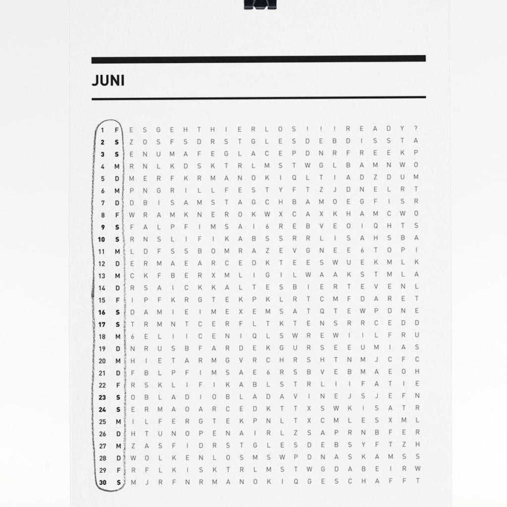 365 Kalender 2018 - Juni