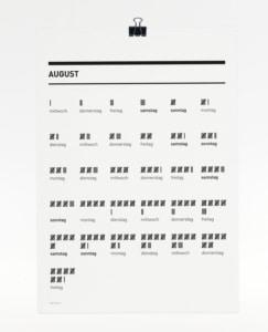 365 Kalender 2018 - August
