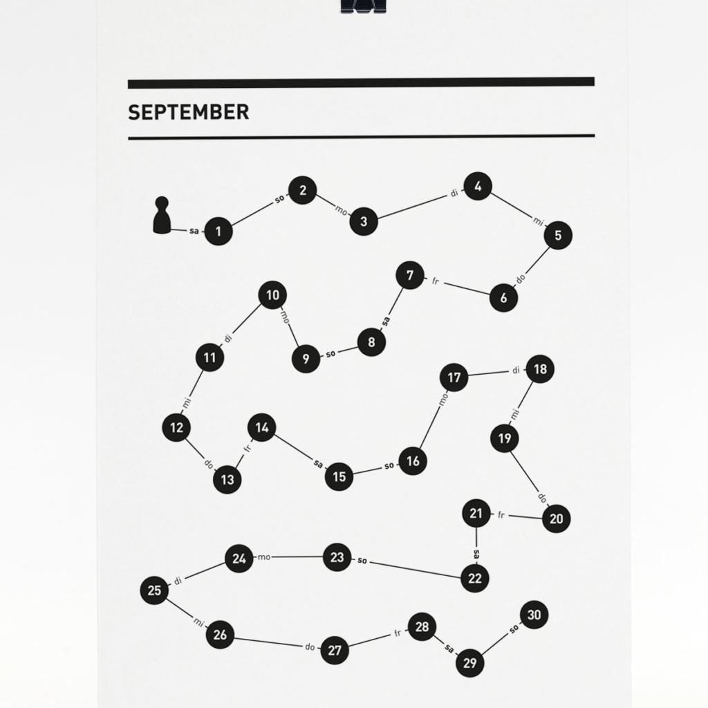 365 Kalender 2018 - September