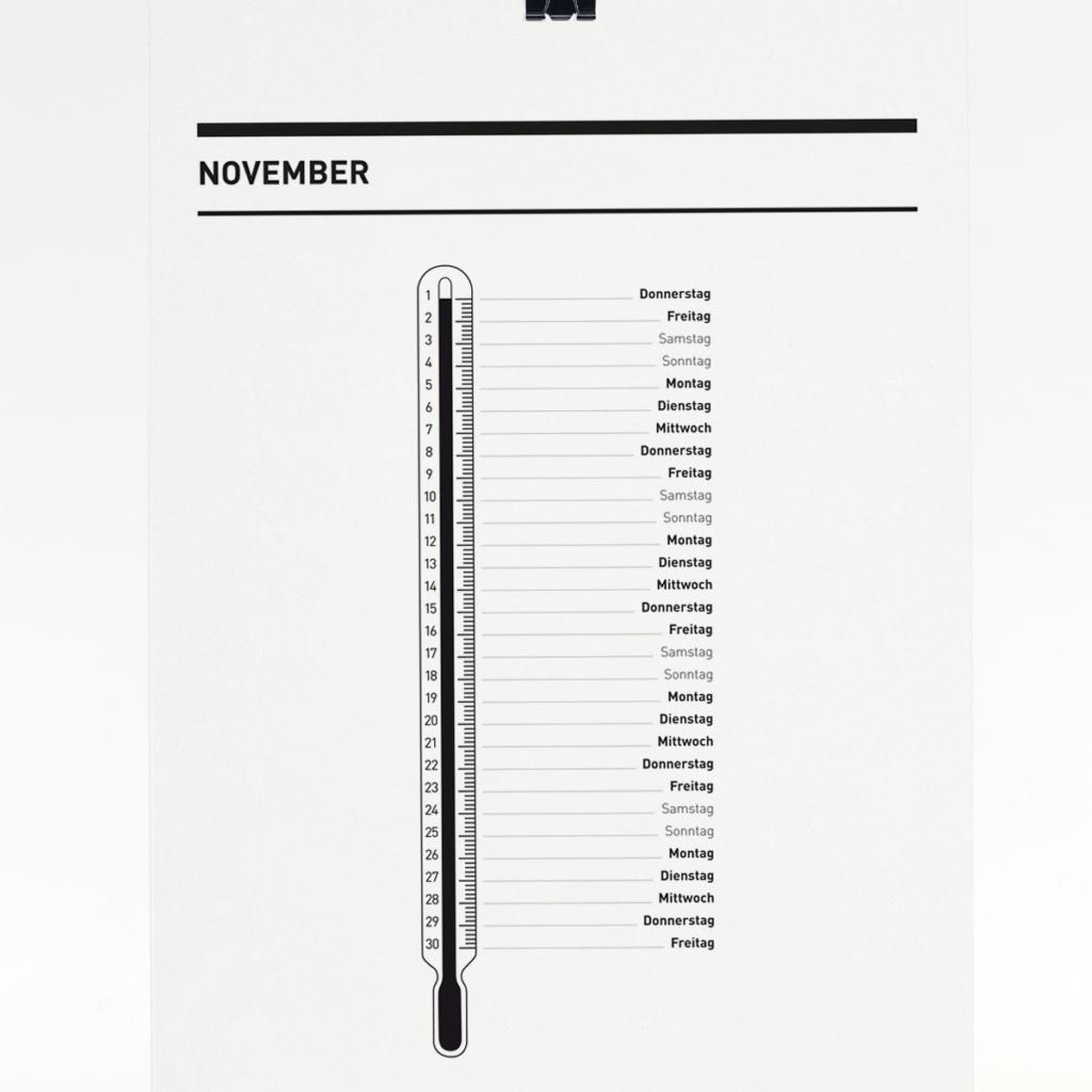365 Kalender 2018 - November