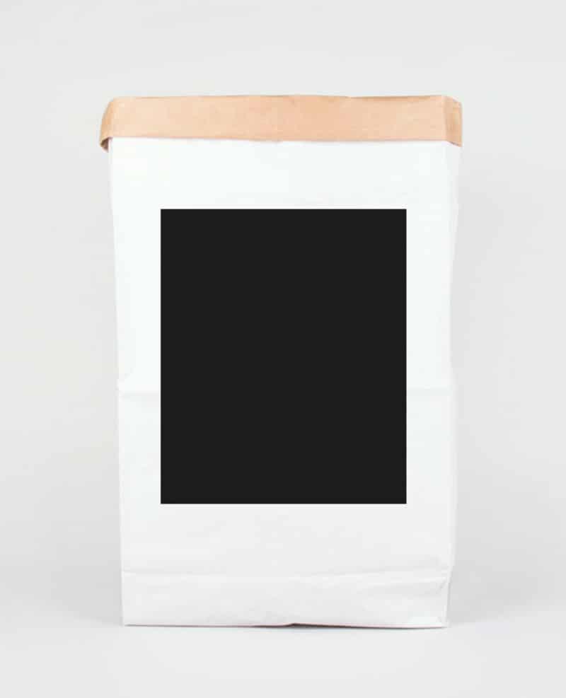 Papiersack mit Flächenmotiv im Siebdruck bedruckt