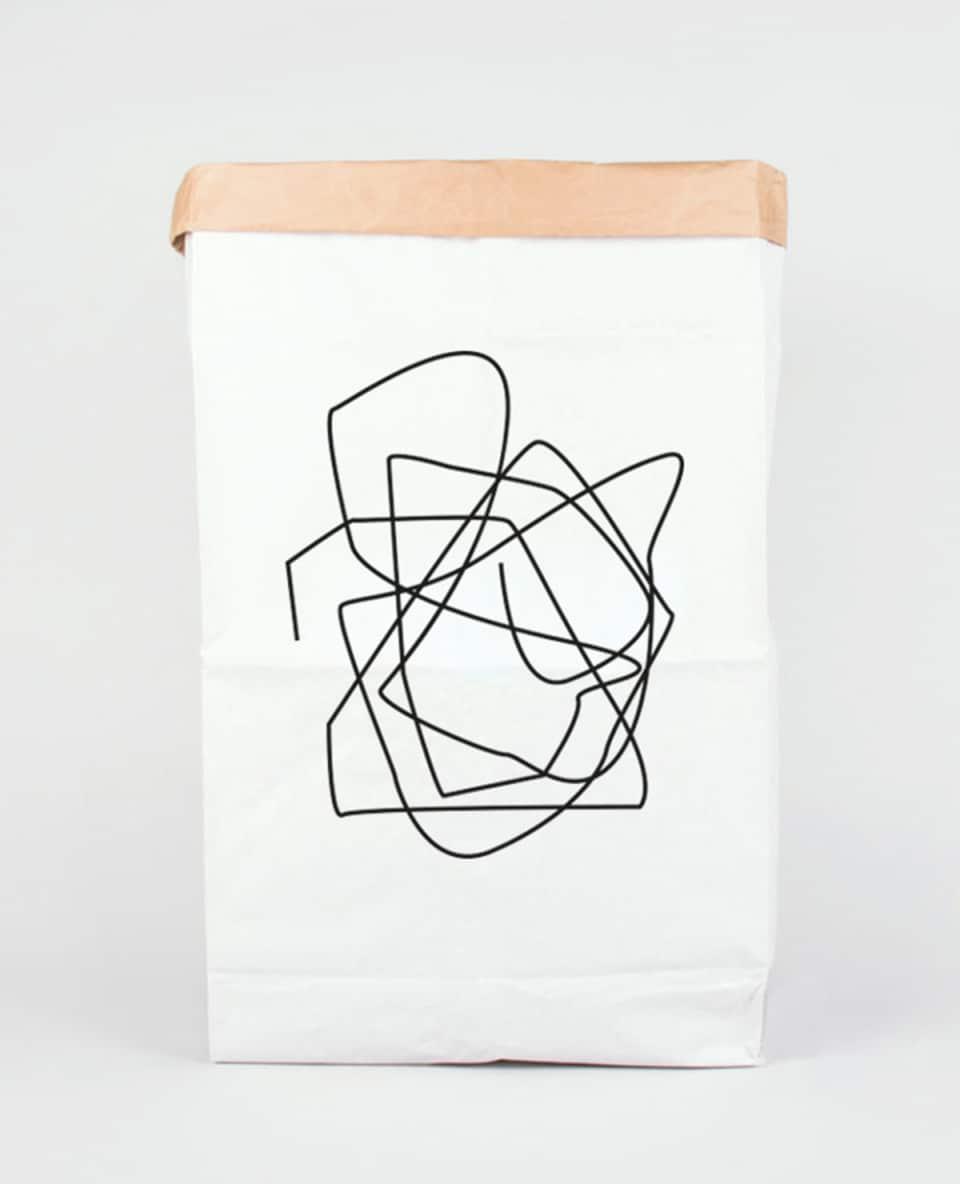 Papiersack gross Siebdruck Chrusel