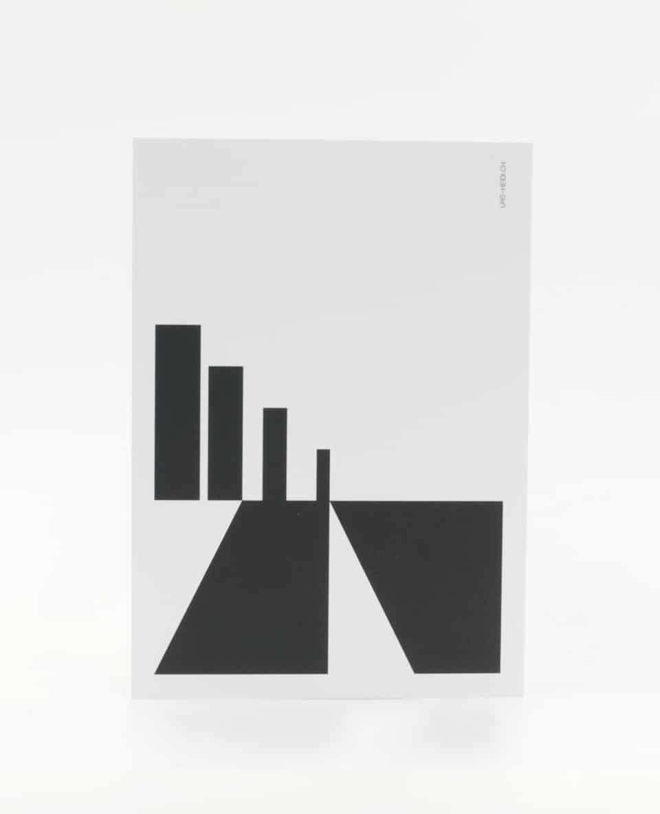 Postkarte Schwarz auf Weiss Abstrakt Holiday Citiy Skyline Postkarte